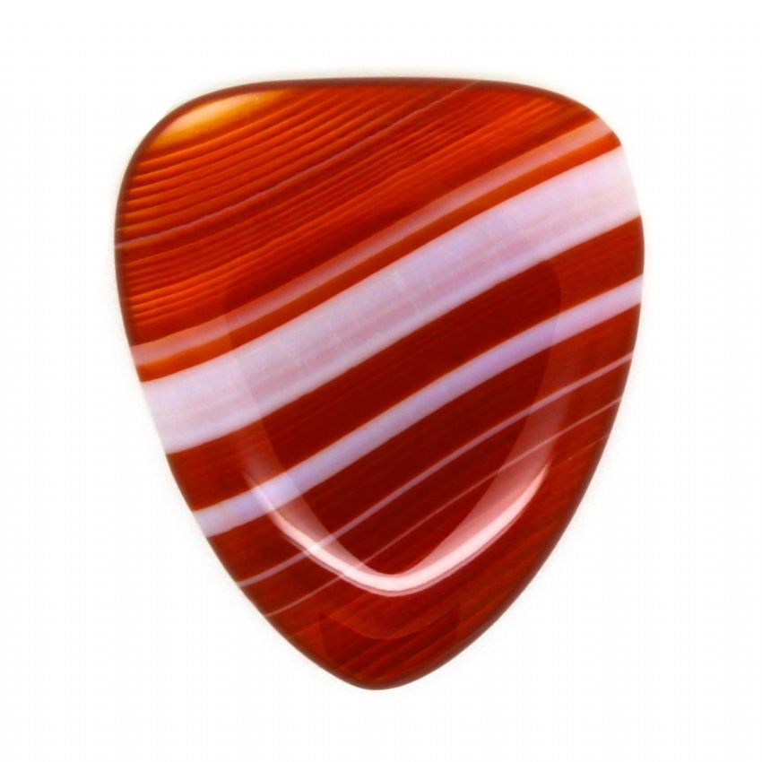 Agate Tones - Red Banded - 1 Guitar Pick | Timber Tones